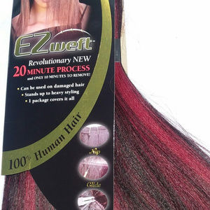 """Remy Ez Weft Yaky 12"""" Straight Human Hair Exten"""